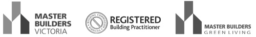 registered and master builder logos
